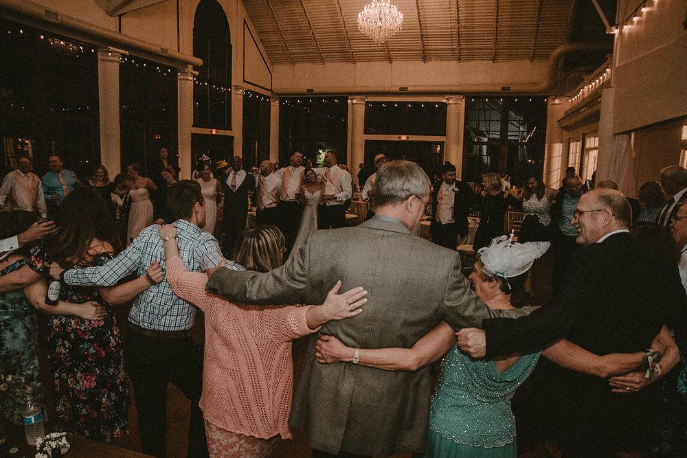 wedding guests dancing photo