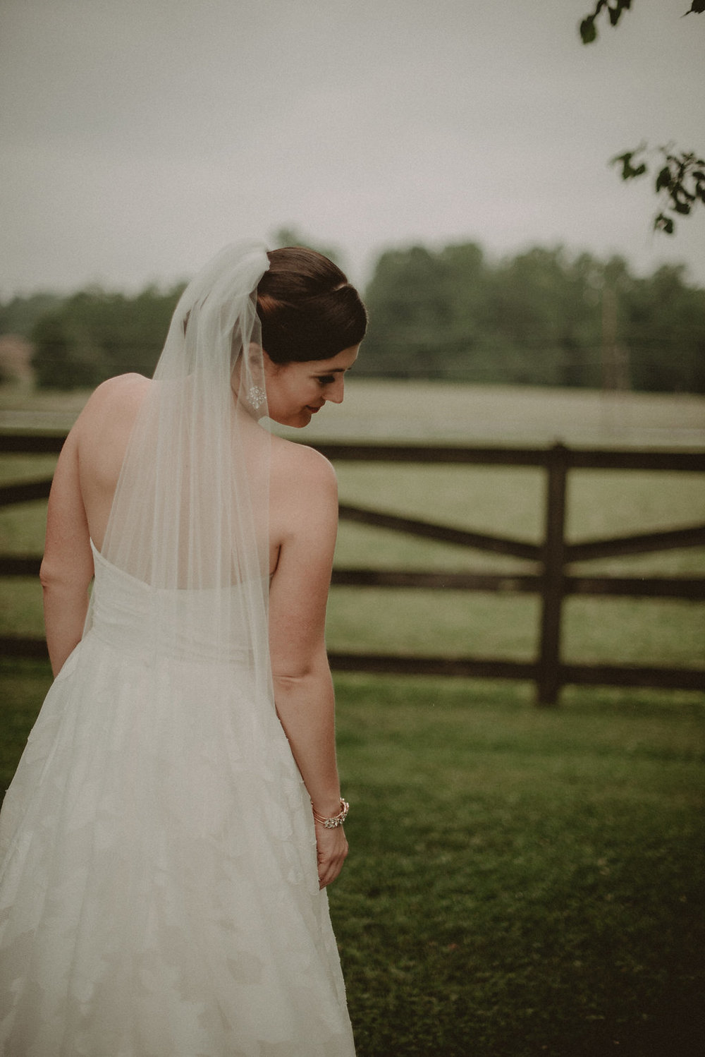 Bride as seen from behind