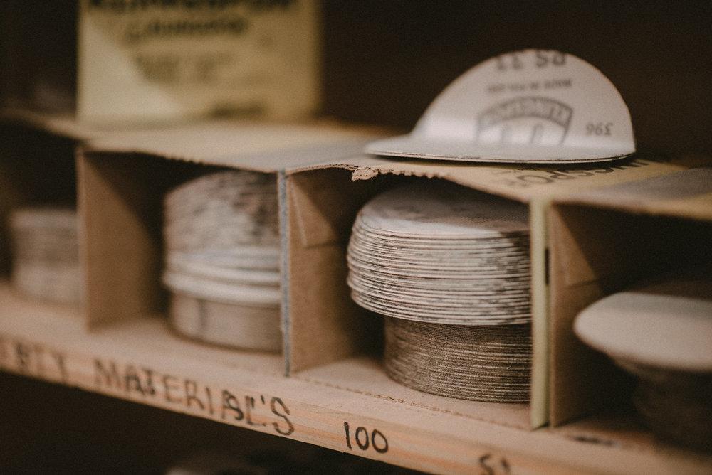 Wood workshop materials