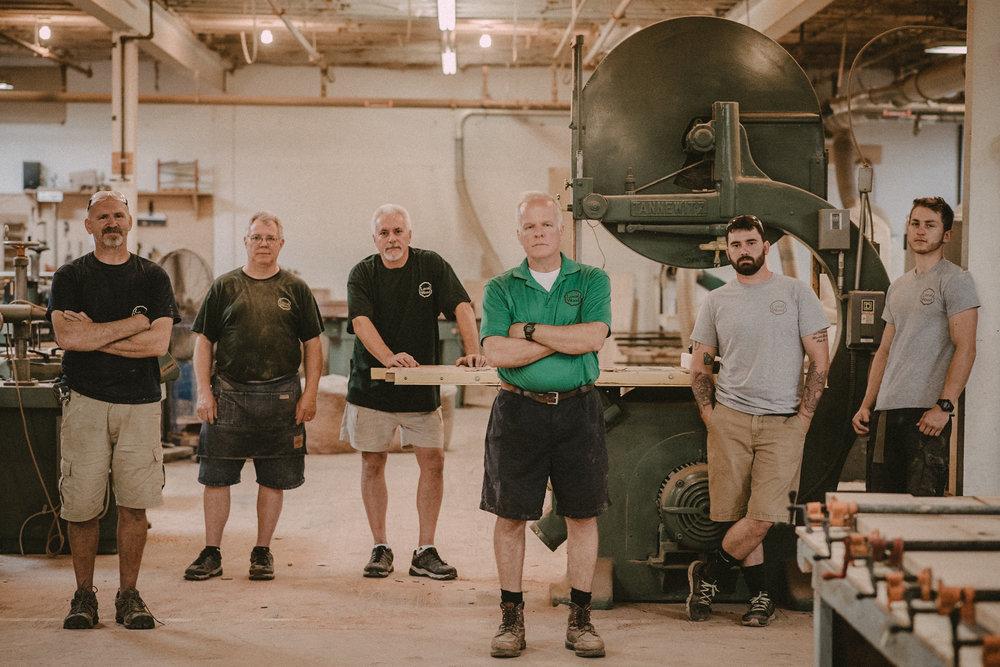 Local wood carpentry team