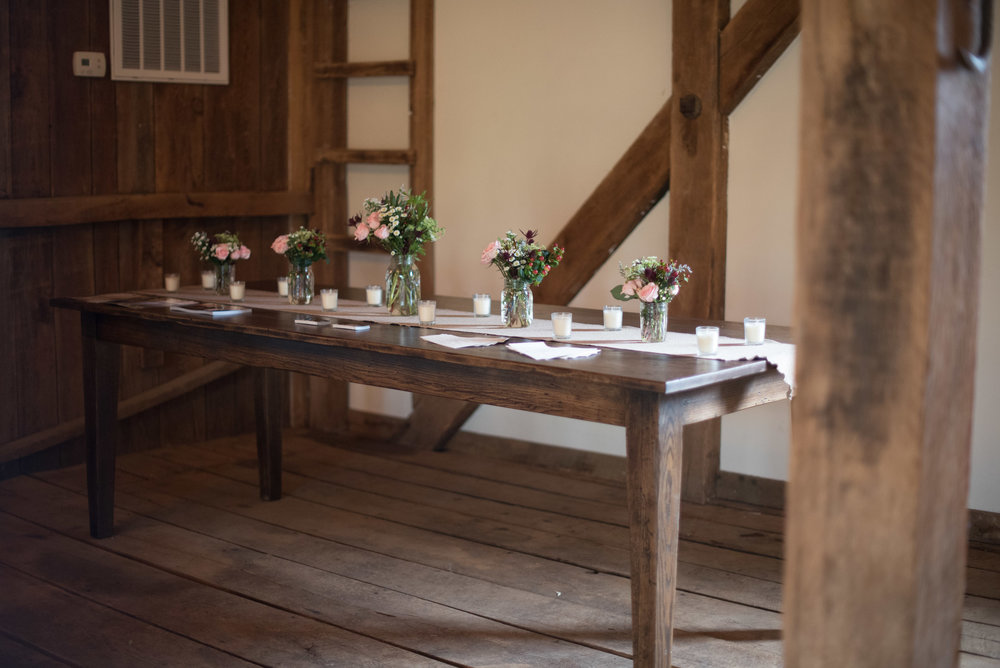 local wood farm table rentals photo