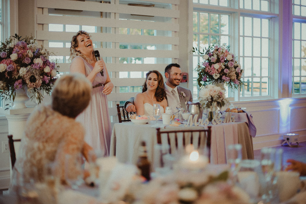 Bridesmaid giving speech