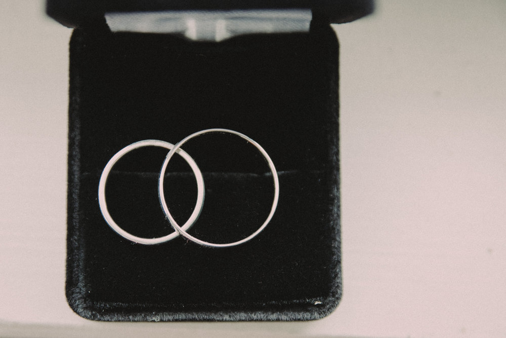 Wedding rings as seen from above