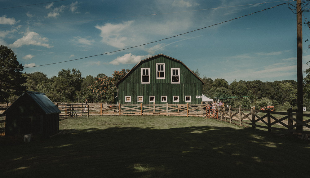 Barn for wedding reception