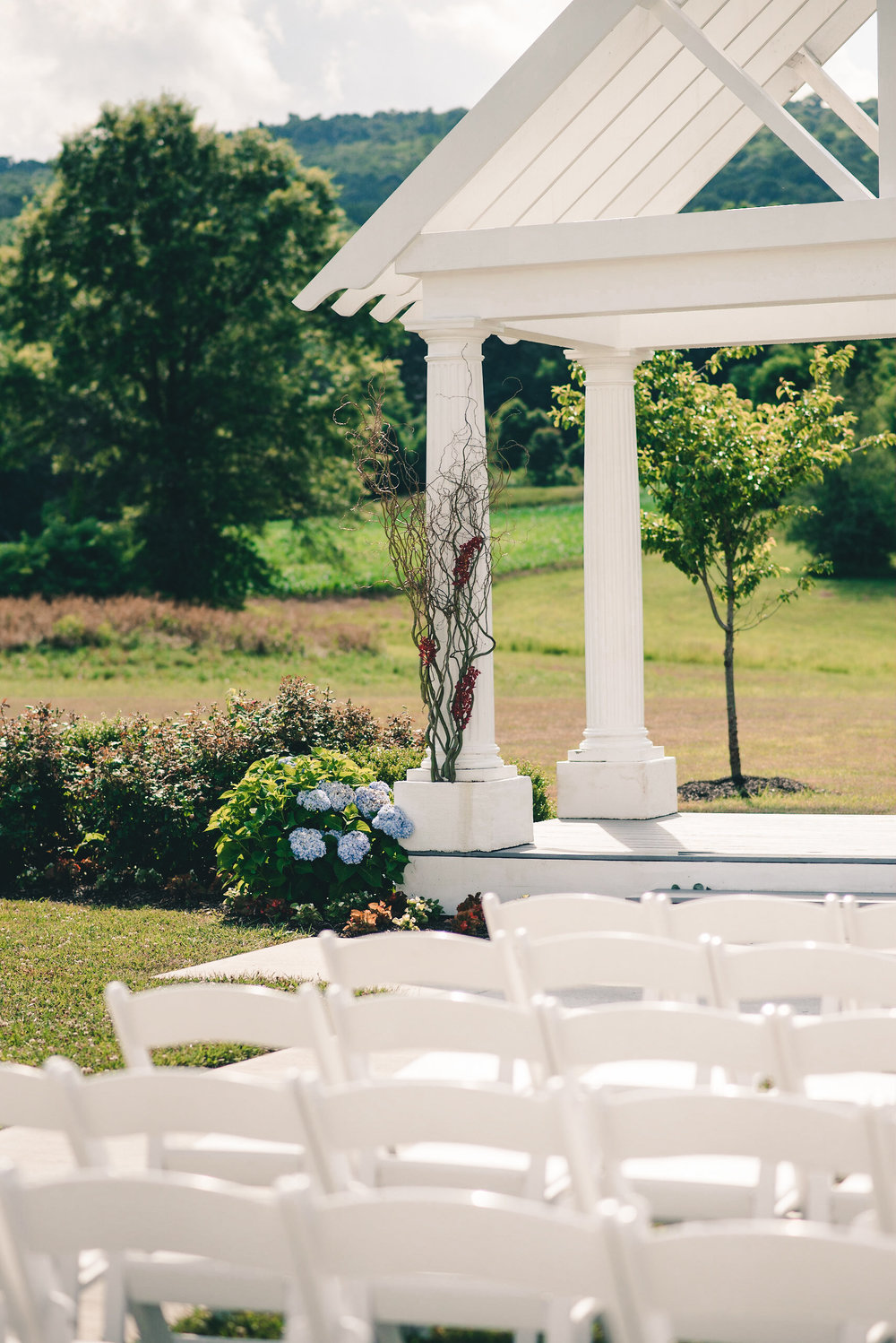 Ceremony space with pergola