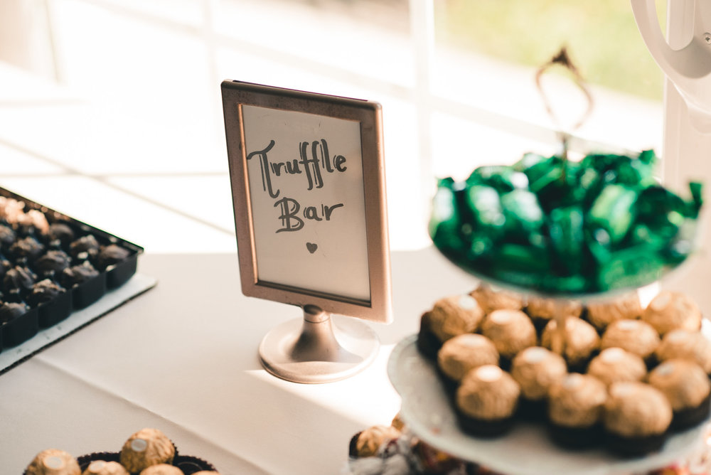 Truffle bar at wedding