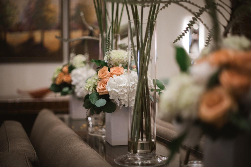 Flowers in the Ritz-Carlton Tyson's Corner