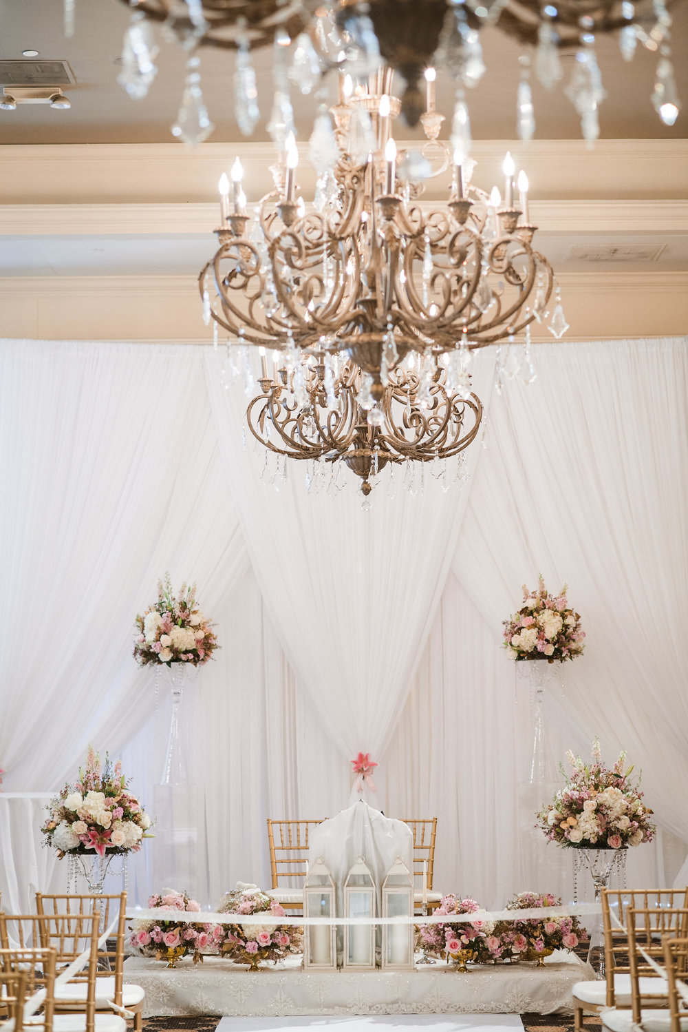 Chandelier in ceremony space