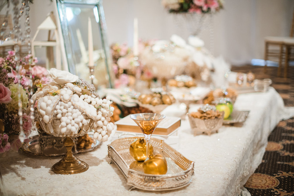 Table during wedding ceremony