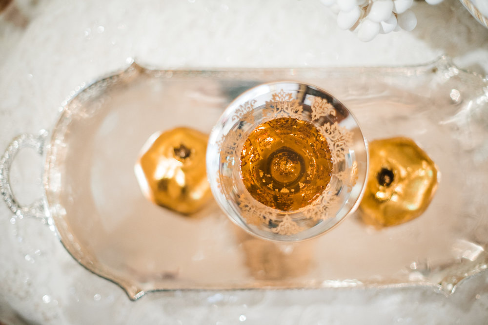 Goblet of wine in wedding ceremony