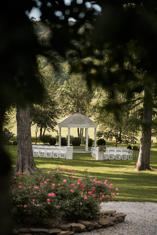 Gazebo and wedding setting