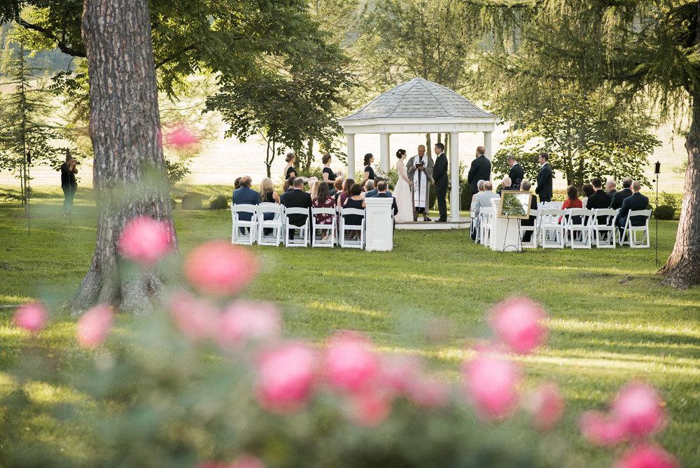 Wedding ceremony from afar
