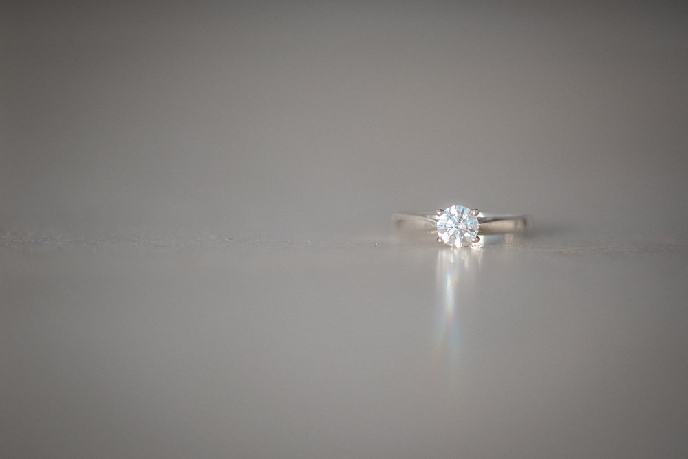 Engagement ring lying on the ground