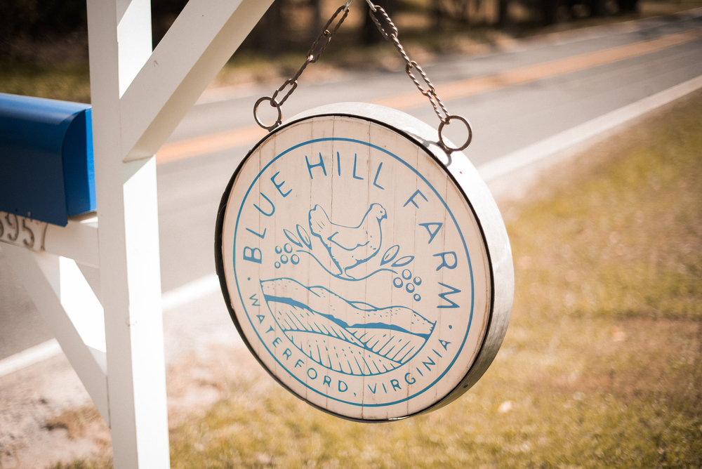 Blue Hill Farm sign