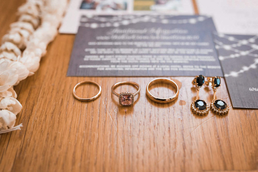 Wedding rings and invite