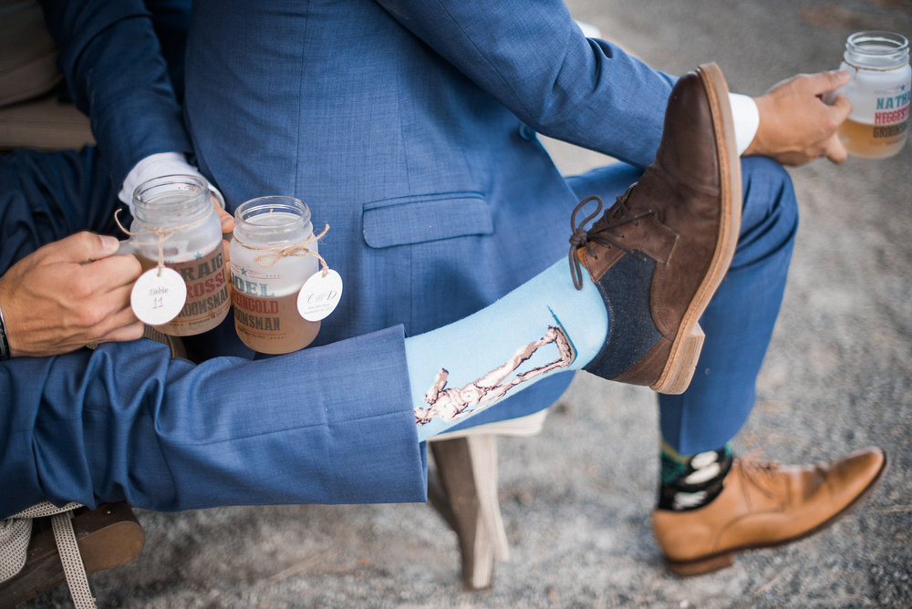Groomsmen statement socks