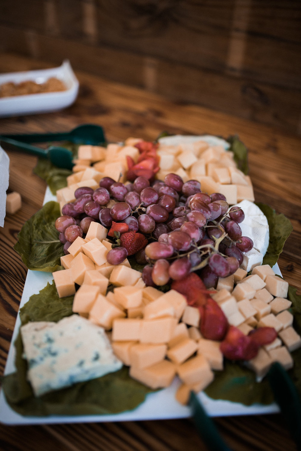 Cheese and fruit at cocktail hour