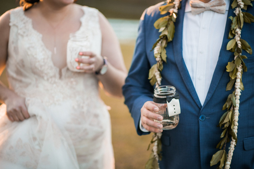 Couple enjoying drinks during photo shoot