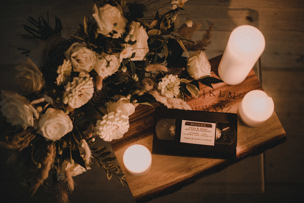 Flowers, candles and VHS