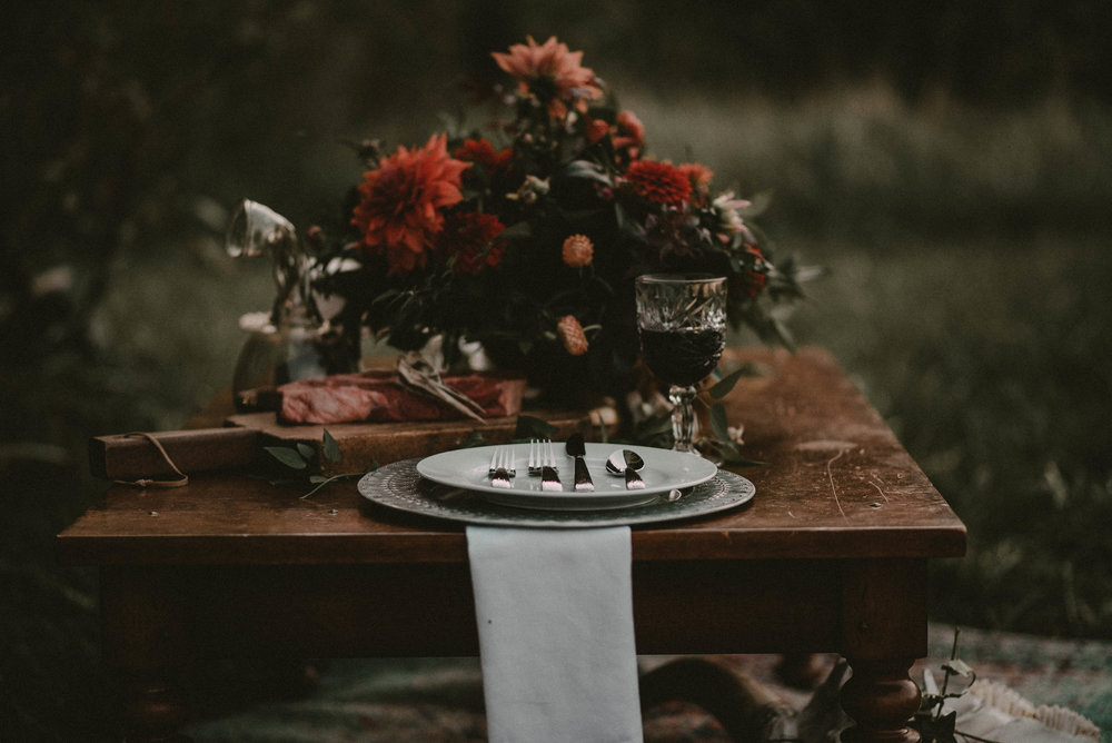 Creepy bridal table