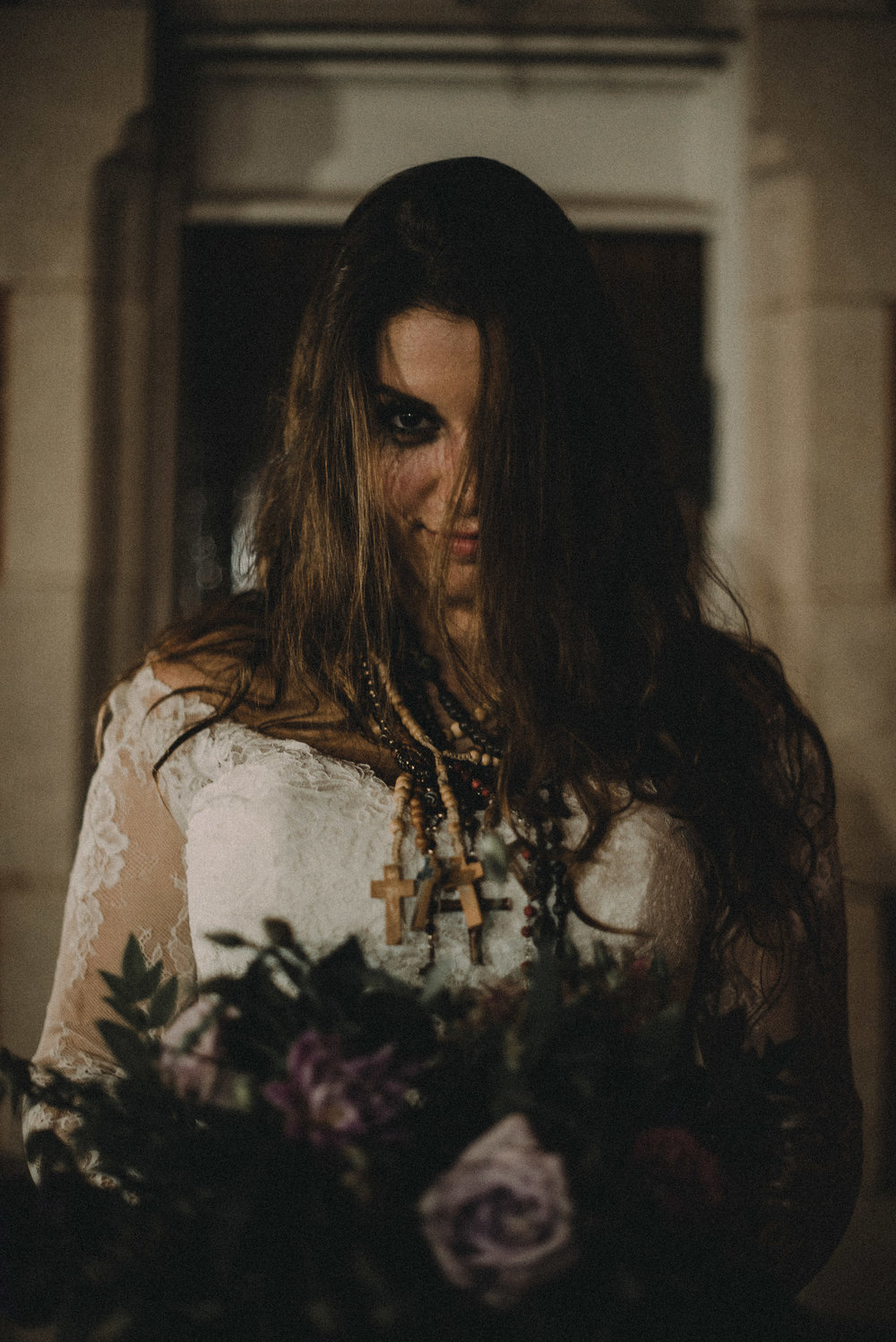 Bride being possessed
