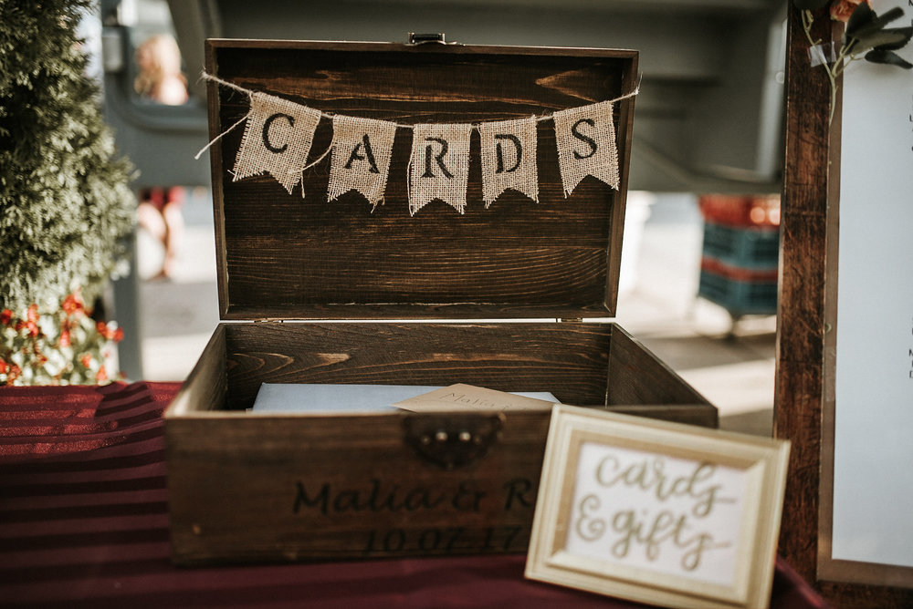 Card box at reception