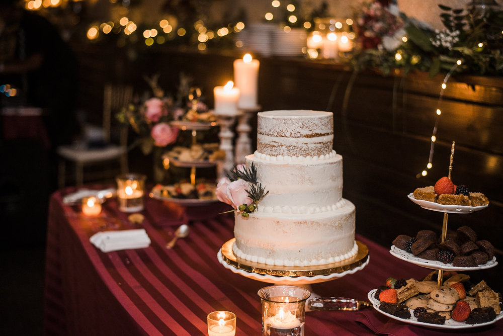 Cake and dessert table at reception