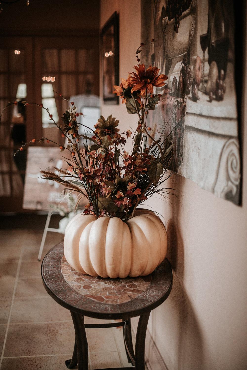 Pumpkin as wedding decor