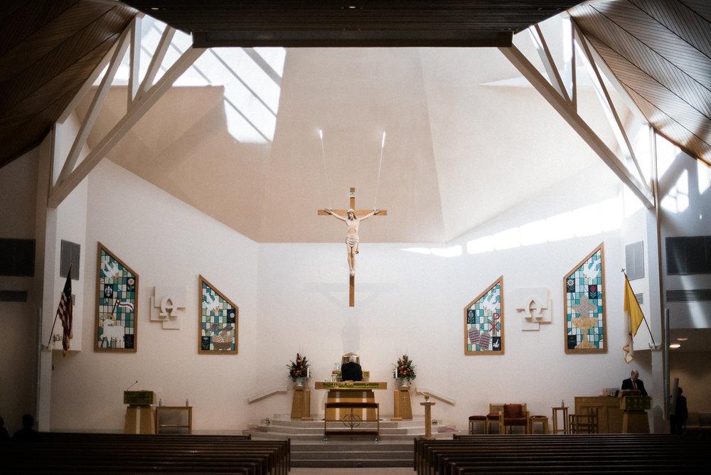 Inside of Catholic church