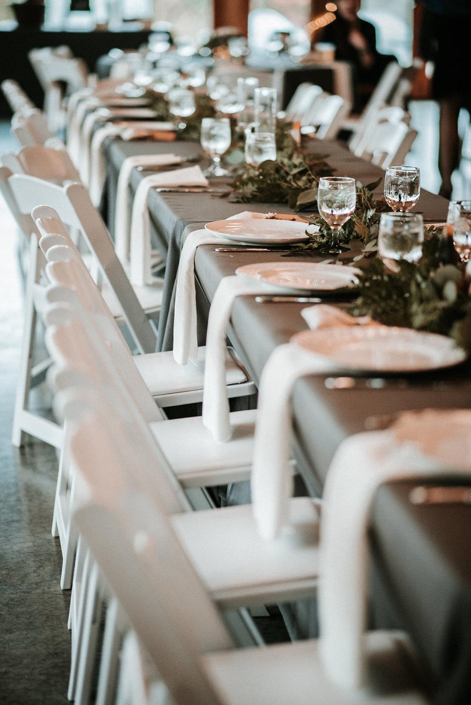 Table settings at wedding