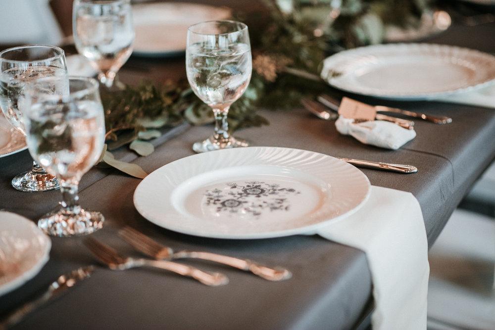 Table setting at weddings