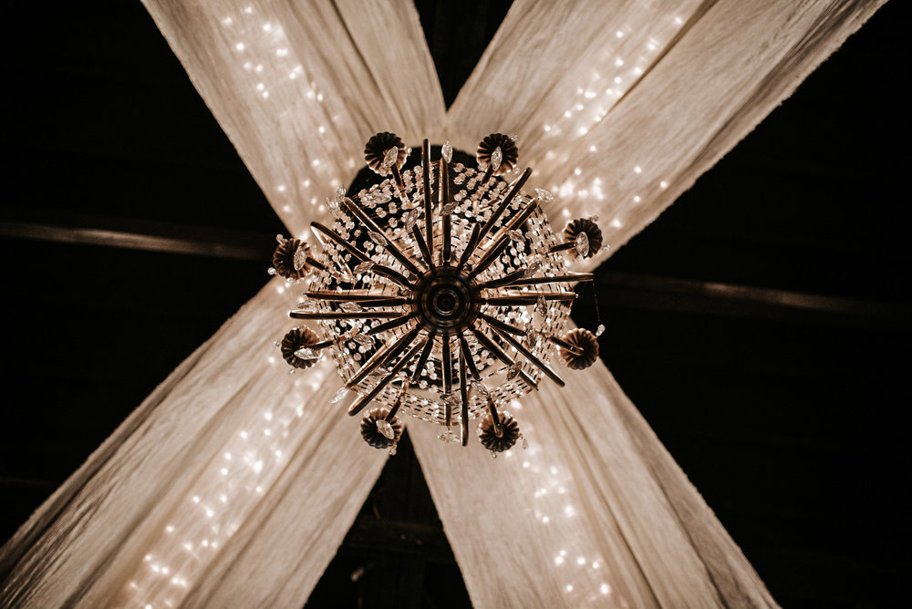 Chandelier as seen from directly below