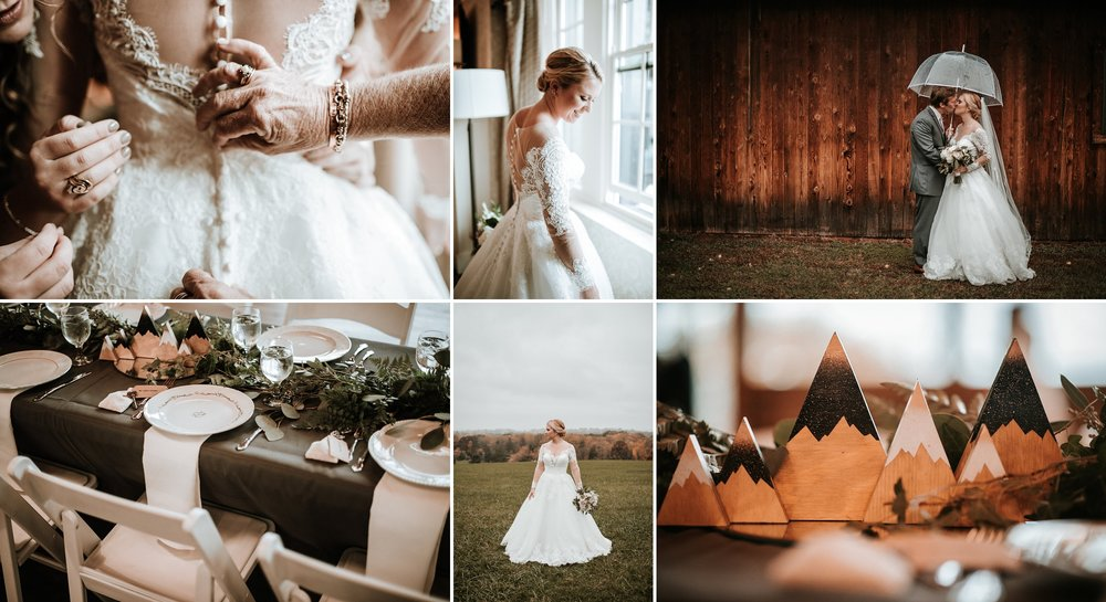 Mountainous Fall Rustic Wedding