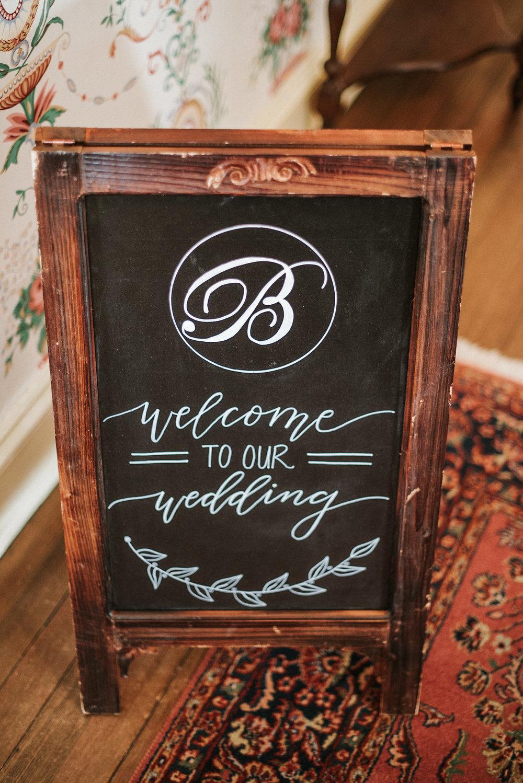 Interior wedding signage