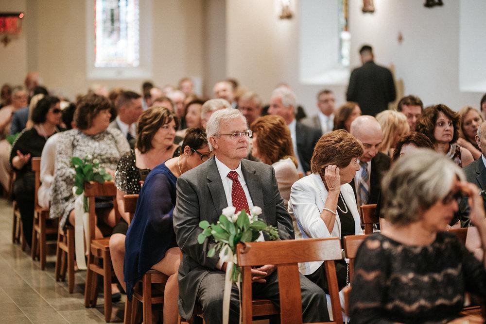 Guests waiting at wedding