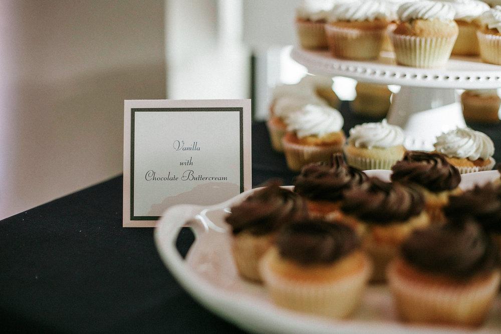 Cupcakes at wedding reception