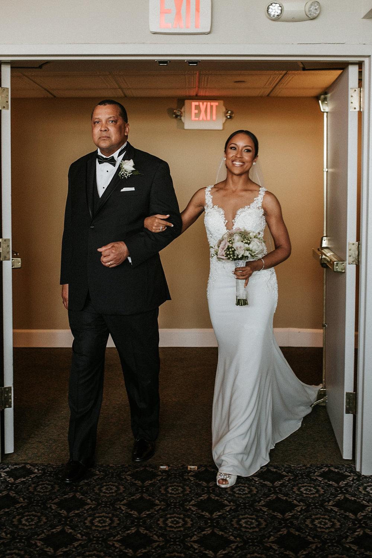 Bride entering wedding