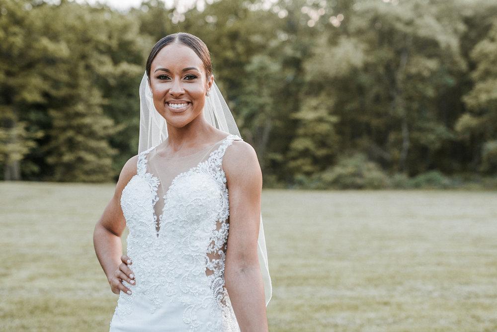 Bride posing for camera
