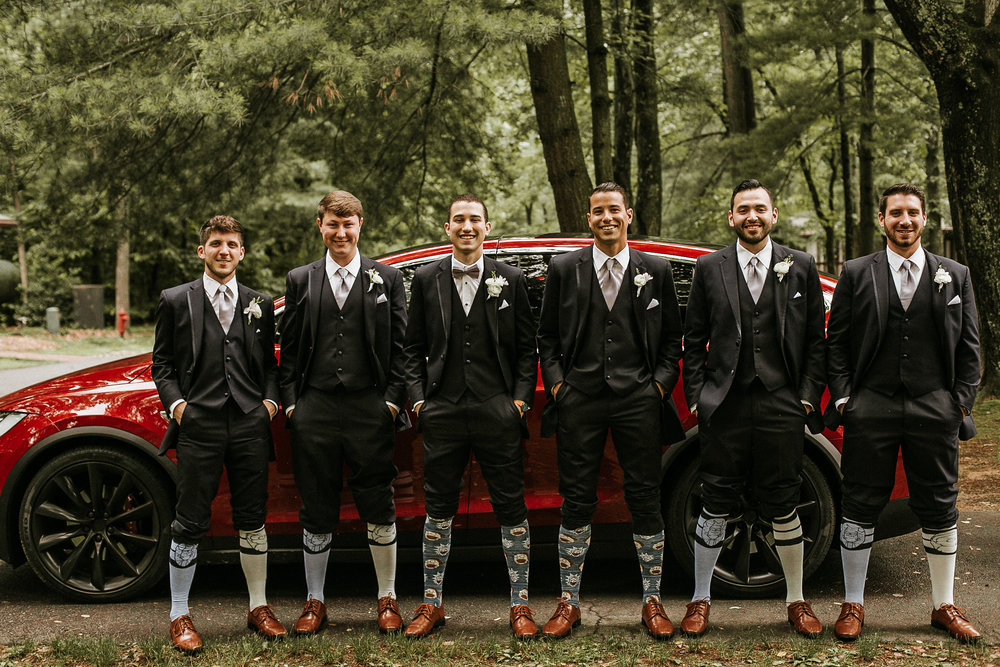 Groomsmen and silly socks