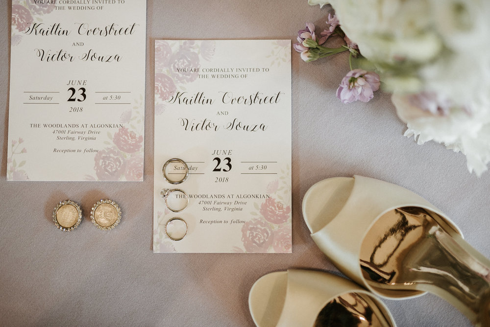Invitations and bride's accessories