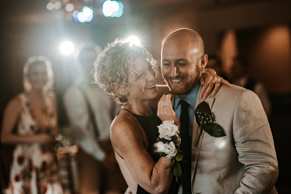 Mother and son first dance
