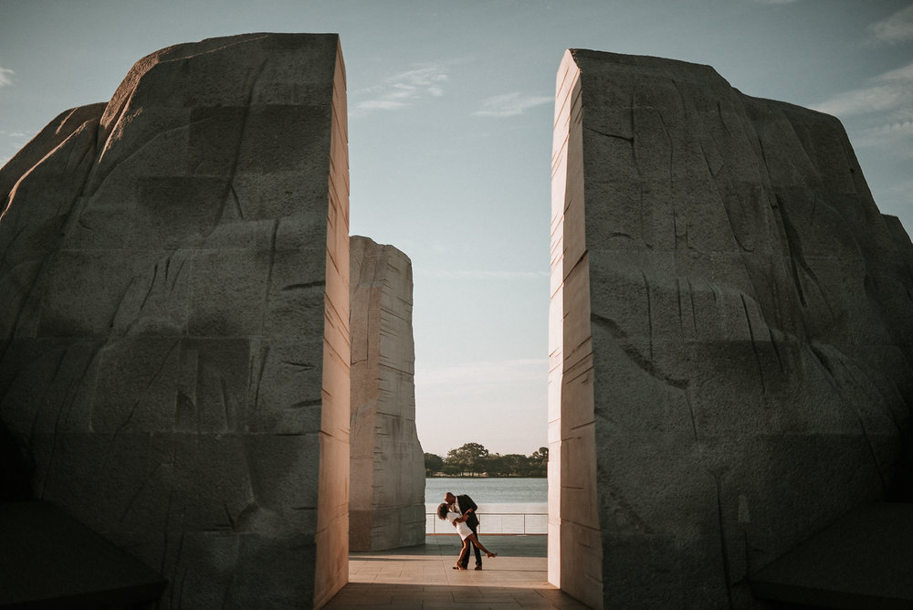 Couple at Martin Luther King Jr Memorial