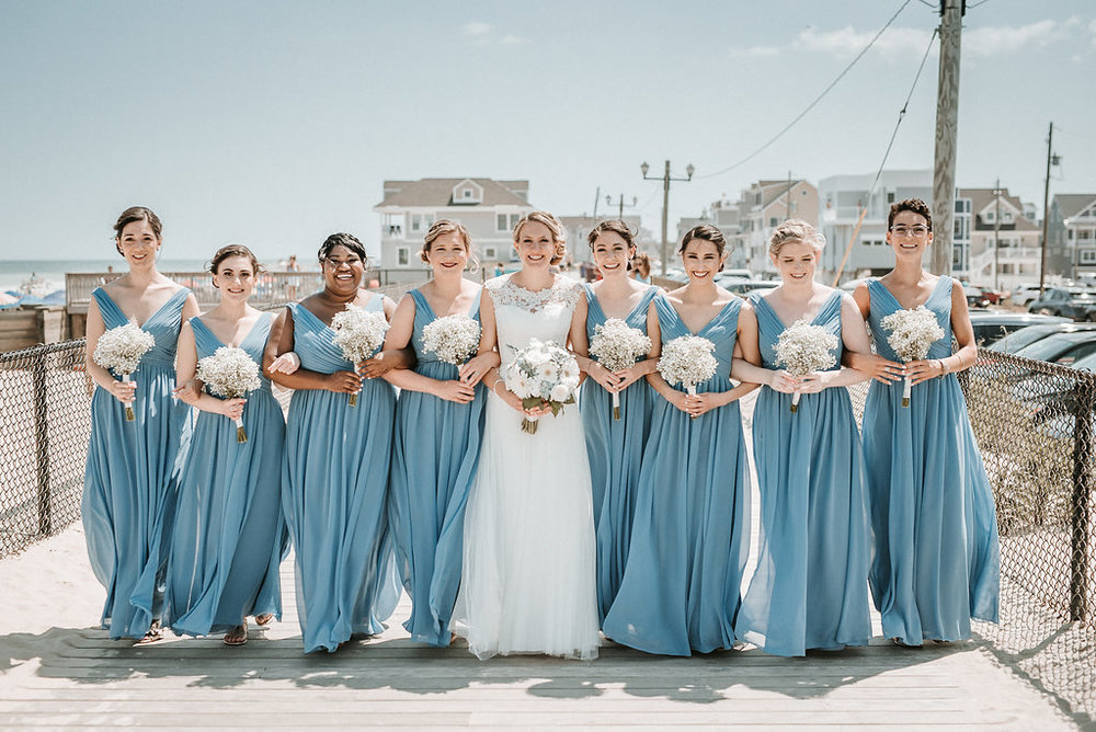 Bride and Bridal Party at Crystal Point Yacht Club