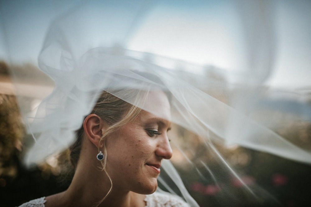Bride and Veil at Crystal Point Yacht club