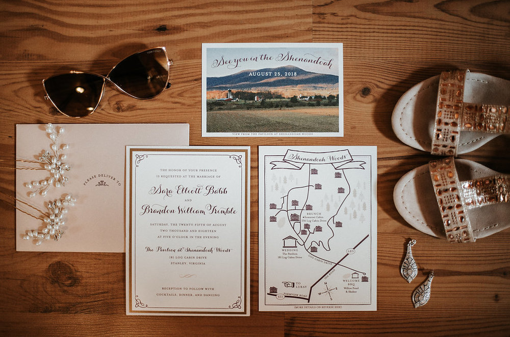 Wedding Detail Shot at The Pavilion at Shenandoah Woods