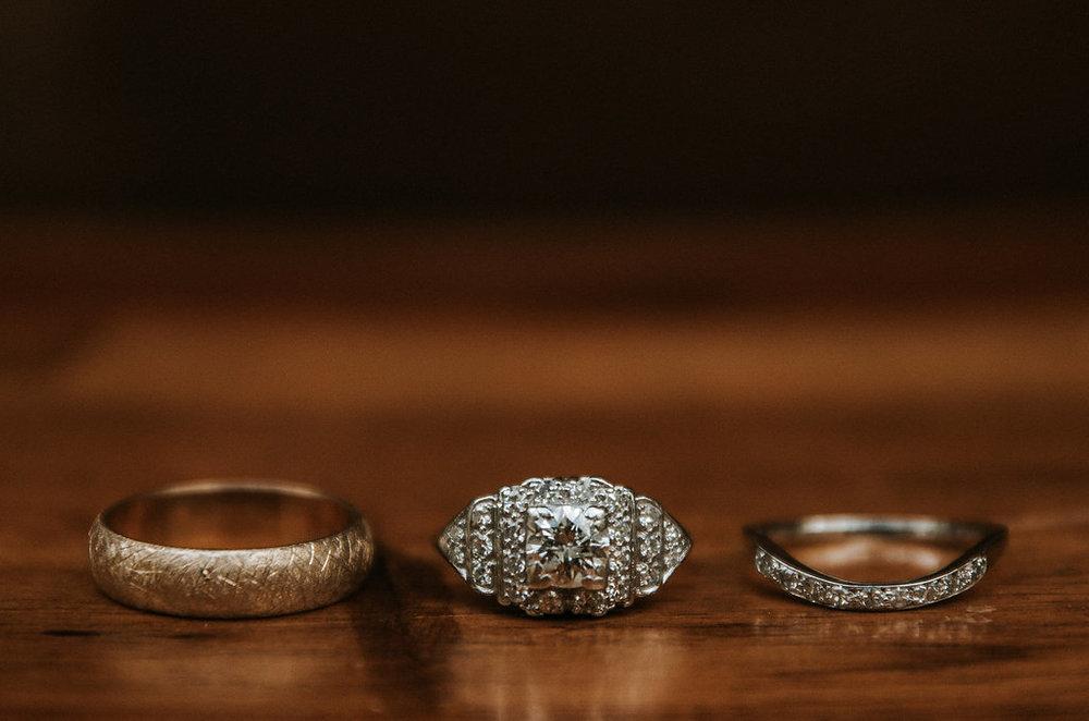 Wedding and Engagement Detail Shot at The Pavilion at Shenandoah Woods