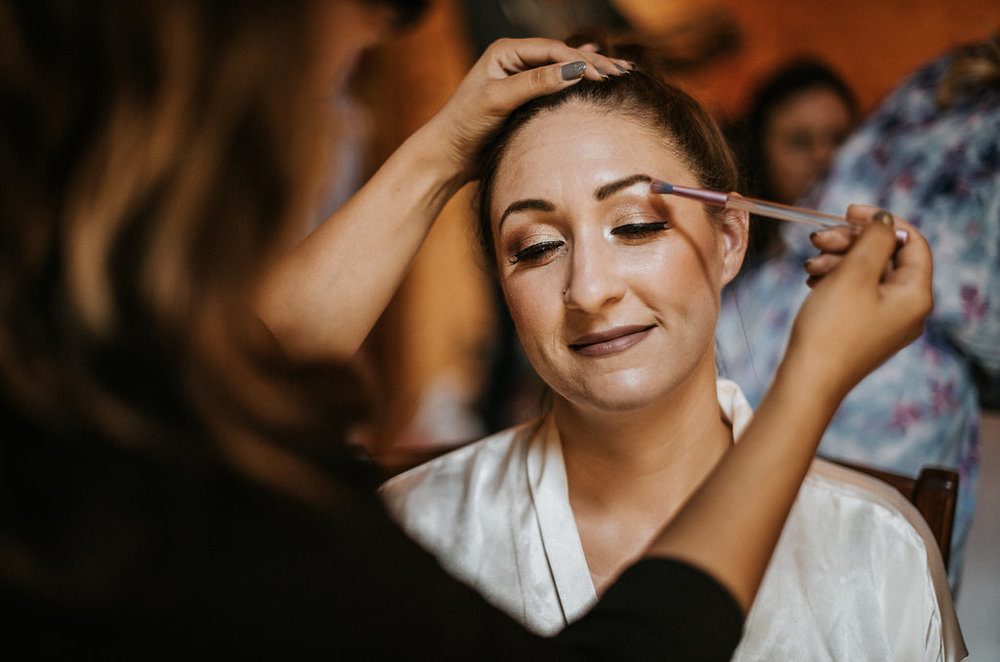 Bride Getting Ready at The Pavilion Shenandoah Woods