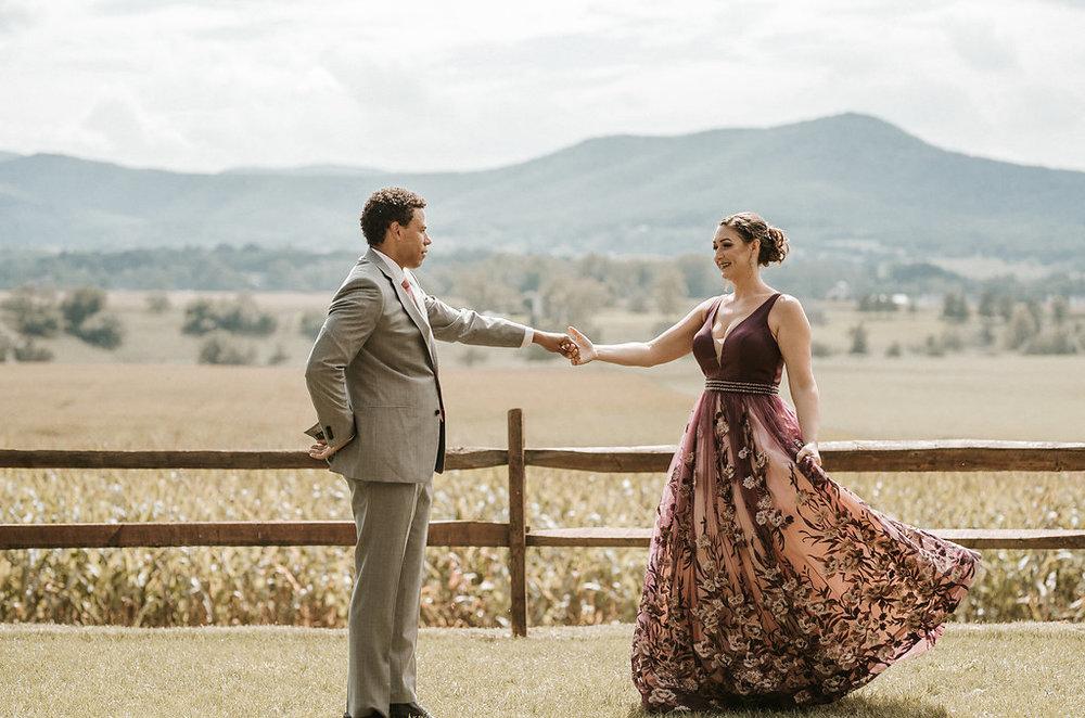 Bride and Groom dancing at The Pavilion Shenandoah Woods