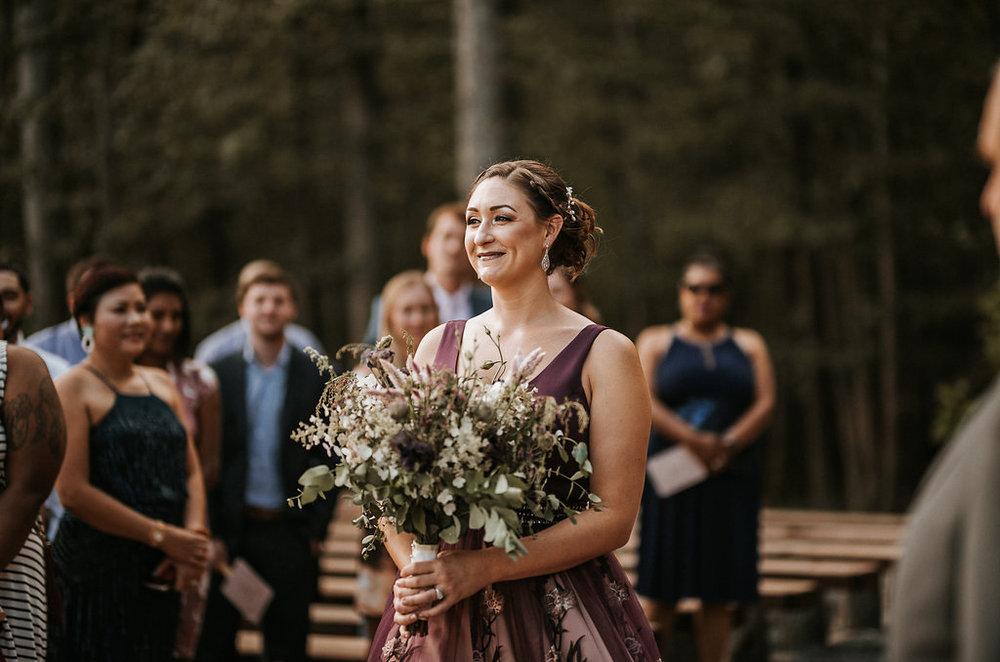 Bride walking down the aisle at The Pavilion Shenandoah Woods