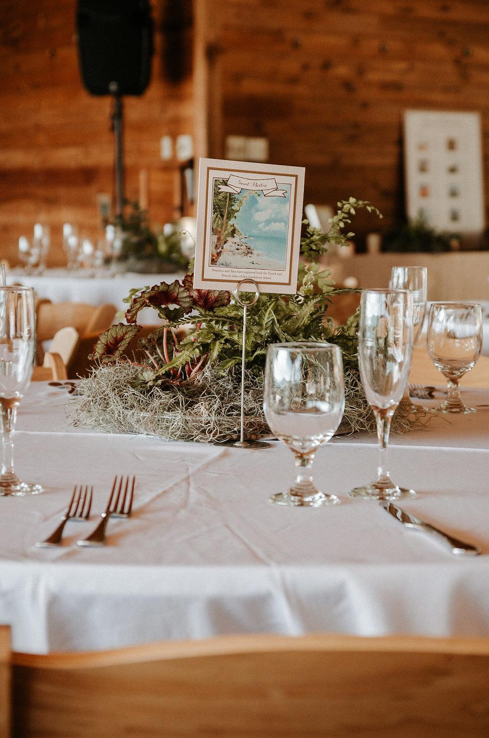 reception detail shot at The Pavilion Shenandoah Woods